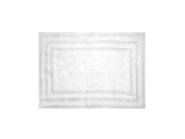 "Homewear Linens R0008-WHT Luxury Track Rug, 100% Cotton, White, 21"" x 32"""