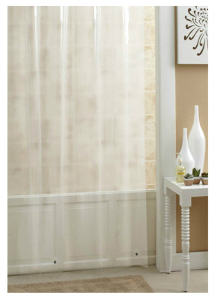 "Ex-Cell 1ME-048O0-0899-961 PEVA Shower Curtain/Liner, Frosty, 70"" x 71"""