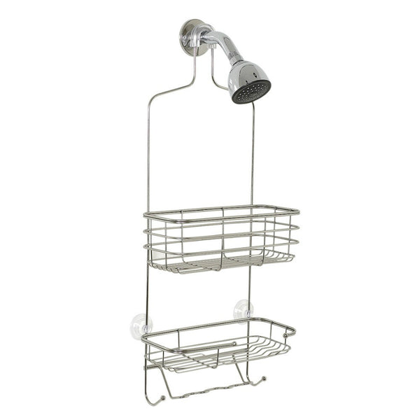Zenith® 7704S Shower Head Caddy, Large, Chrome Finish, Steel