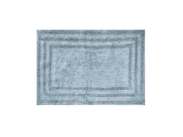"Homewear Linens R0008-BLUE Luxury Track Rug, 100% Cotton, Spa Blue, 21"" x 32"""