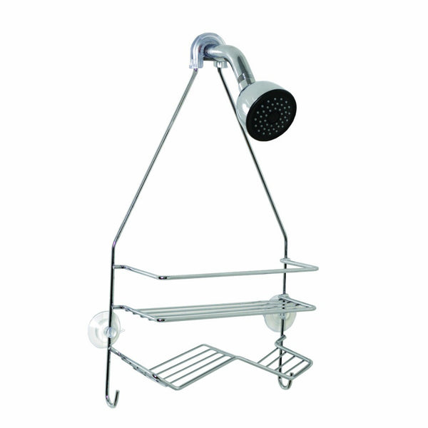 Zenith® 7518SS Small Shower Head Caddy, Small, Chrome Finish, Steel