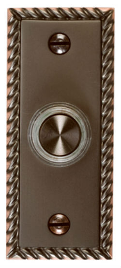 Carlon® DH1667BL Lighted LED Chime Button, Oil Rubbed Bronze