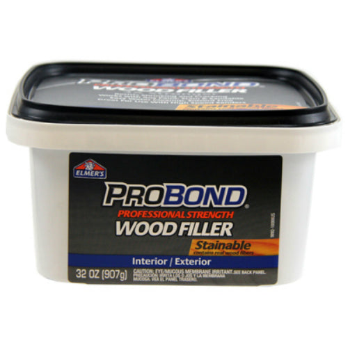 Elmers® P9892 ProBond Stainable Interior/Exterior Wood Filler, 1 Qt