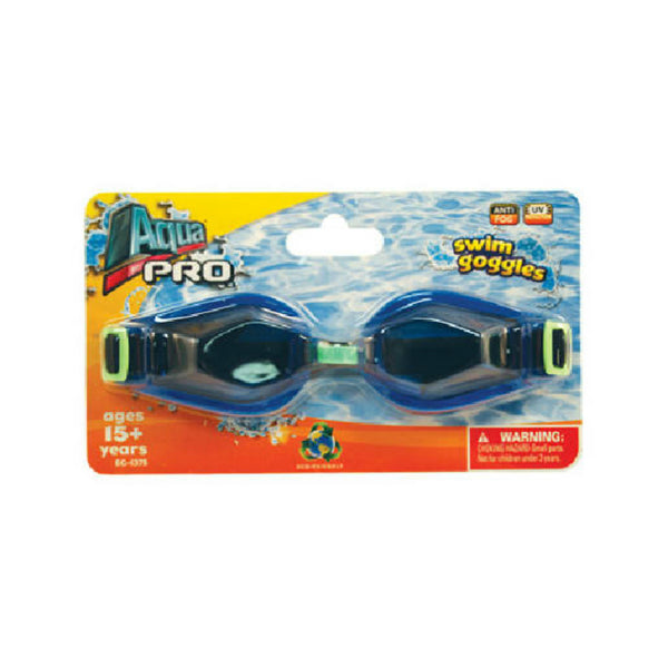 Aqua Leisure® AQG1356 Racer Silicone Super Swim Goggles w/Shatter Resistant Lens