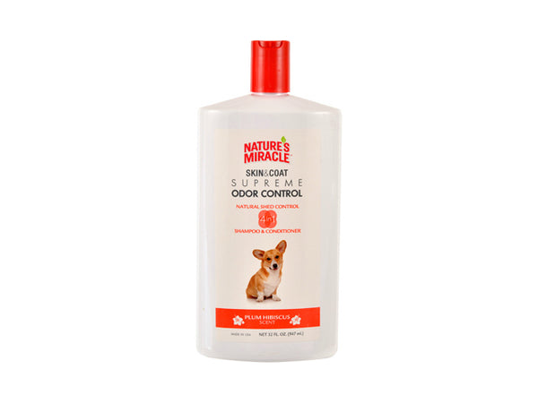Nature's Miracle NM-7001 Pet Skin & Coat Supreme Odor Control Shampoo, 32 Oz