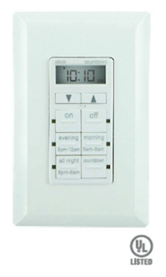 GE 25055 Digital In-Wall TouchSmart™ Wired Timer, 6 Preset Buttons