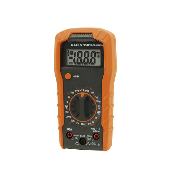Klein® Tools MM300 Manual-Ranging Digital Multimeter w/ Leads & Batteries, 600V