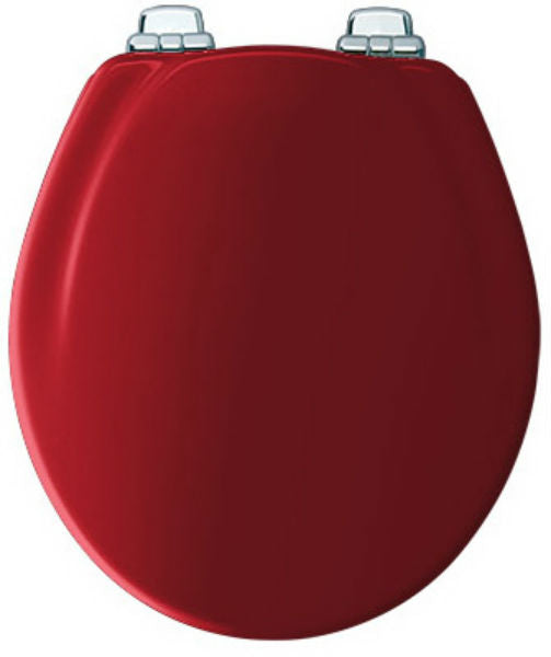 Mayfair 30CHSL-613 Round Molded Wood Toilet Seat w/ Whisper Close Hinges, Red