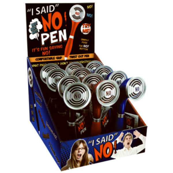 I Said No Pen NO-PEN Comfortable Grip with Twist Out Pen, Assorted Color