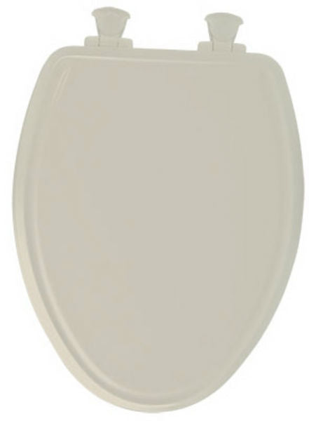 Mayfair 148SLOW-006 Elongated Molded Wood Toilet Seat w/ Easy-Clean Hinges, Bone