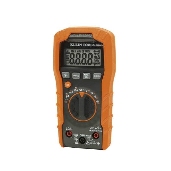 Klein® Tools MM400 Auto-Ranging Digital Multimeter, 600V