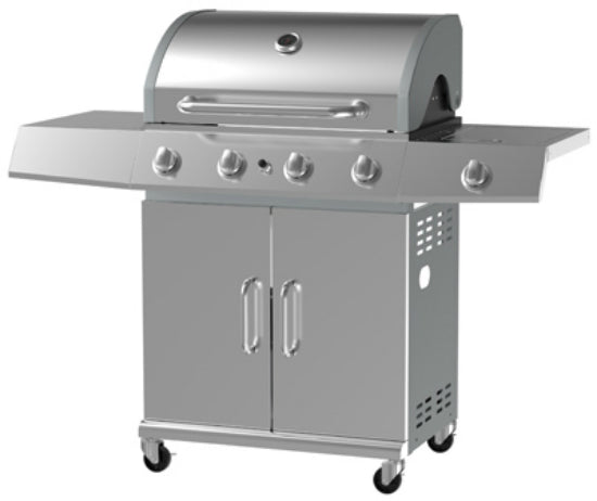 Grill Zone BG2615B Stainless Steel Gas Grill with 5 Burner, 12000 BTU