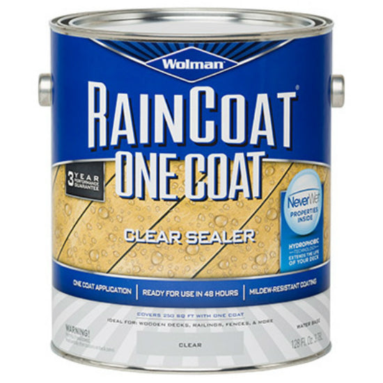 Wolman™ 288339 RainCoat® One Coat Transparent Stain, 1-Gallon, Clear