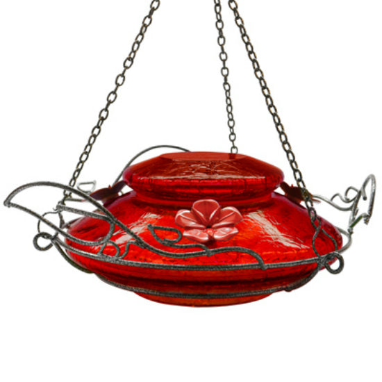 Nature's Way MHF4 Crackled Jewel Hummingbird Feeder, Red
