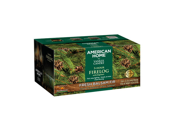 Pine Mountain 41525-01384 Yankee Candle American Home Fire Log, 4-Pack