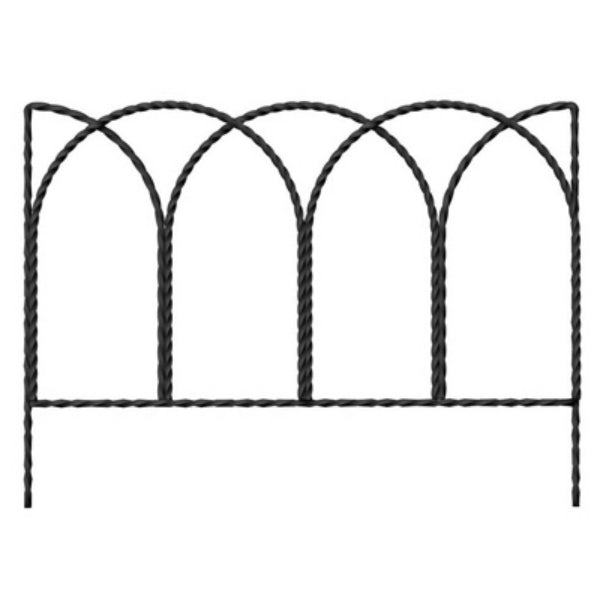 Panacea 89362 Rustic Farmhouse Twisted Wire Border Edge, 14 Inch x 20 Inch