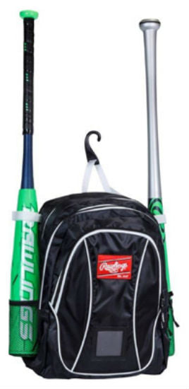 Rawlings® YBKPK-B/W Youth Player Backpack, Black & White