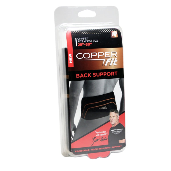 "Copper Fit™ CFBACKSM Copper Infused Back Support, As Seen On TV, S/M 28""-39"""