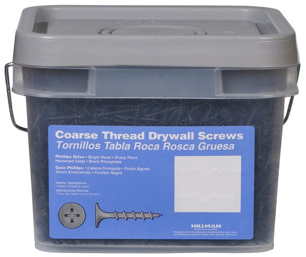 "Hillman™ 967622 Phillips Drive Coarse Thread Drywall Screws, 1"" x 6, 1/4 Keg"