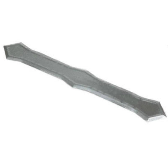 Amerimax 29029-WEST Galvanized Steel Downspout Band, Mill Finish