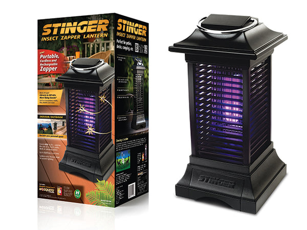 Stinger BKC90 Portable Insect Zapper Lantern, Black, Covers 625 Sq. Ft.