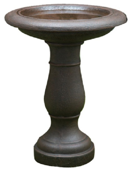 CTM 20109 Round Bird Bath, Natural Clay, 20""