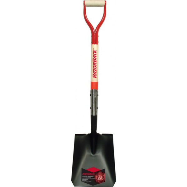 Razor-Back® 42116 D Square Point Shovel w/ Tab Socket & Forward Turned Step