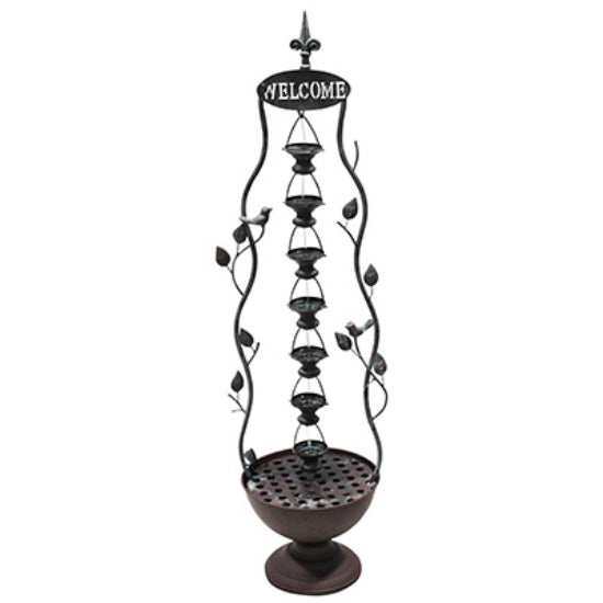 Alpine MAZ256 Tier Layered Floor Fountain with 7-Hanging Cup, 41""