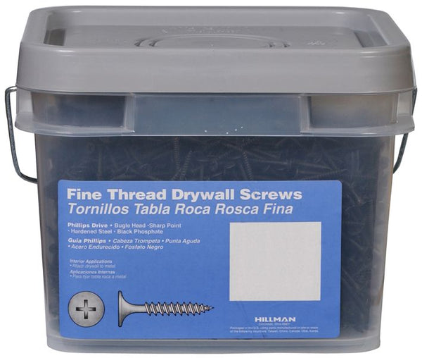"Hillman™ 967630 Phillips-Drive Fine Thread Drywall Screws, 2"" x #6, 3500-Piece"