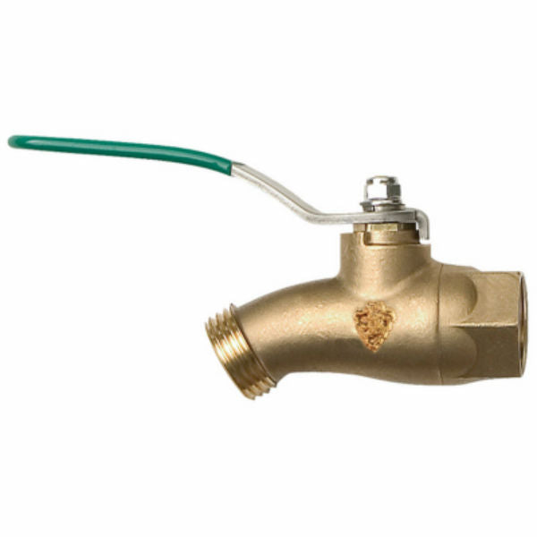 "Arrowhead® 253BVLF QuickTurn™ No-Kink Hose Bibb Ball Valve, 1/2"" FIP x 3/4"""