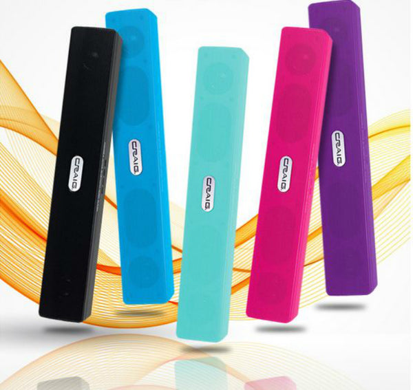 Craig® CMA3581 Portable Bluetooth Speaker w/ USB & Micro SD Ports, Assorted Colors