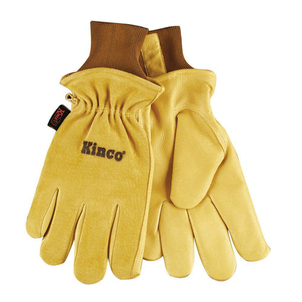 Kinco® 94HK-L Men's Grain Drivers Glove with Suede Pigskin Leather Back, Large