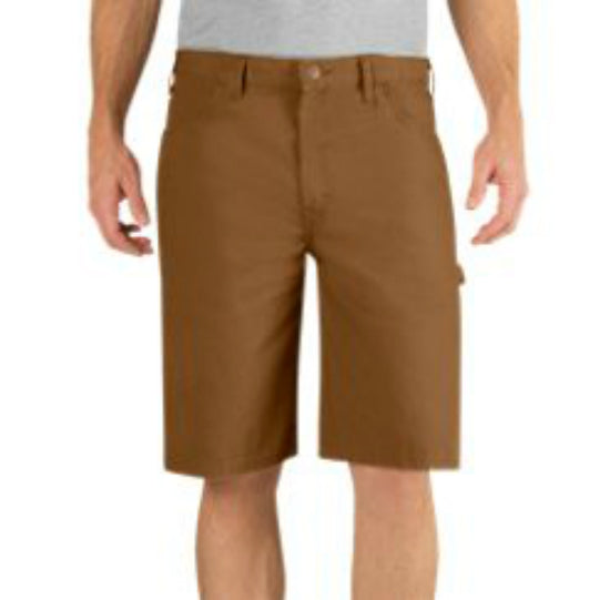 "Dickies® DX250RBD34 Relaxed Fit Duck Carpenter Short, 34"" Waist x 11"", Brown"