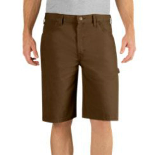 "Dickies® DX250RTB38 Relaxed Fit Duck Carpenter Short, 38"" Waist x 11"", Timber"