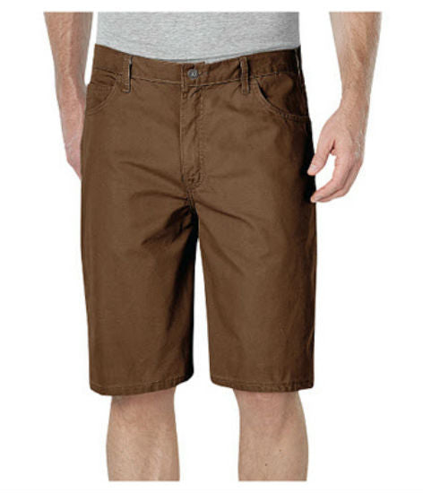 "Dickies® DX250RTB40 Relaxed Fit Duck Carpenter Short, 40"", Timber Brown"
