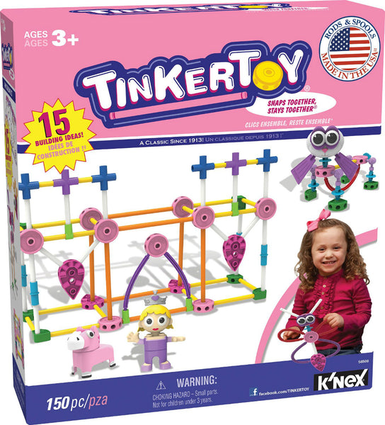 Knex® 56508 TinkerToy® Pink Building Set, Ages 3+, 150-Piece