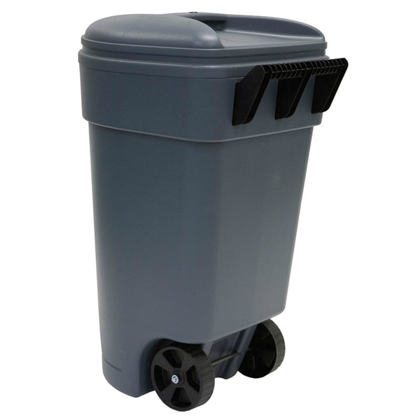 United Solutions® TB0041 Commercial Grade Blow Molded Trash Can, 50 Gallon, Gray