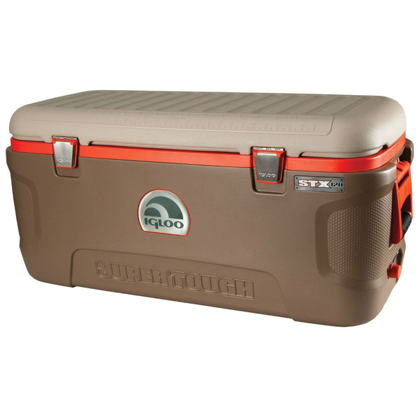 Igloo® 44938 Super Tough™ STX-120 Sportsman Cooler, Brown, 120 Qt