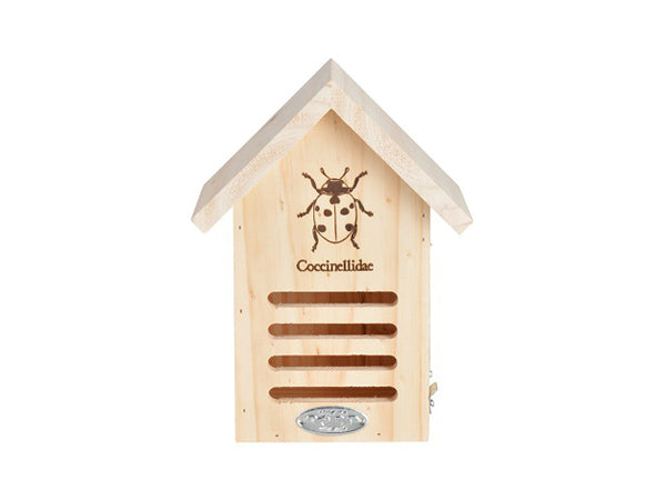 "Esschert Design WA37 Wooden Lady Bug House, 6.7"" x 4.8"" x 9"""