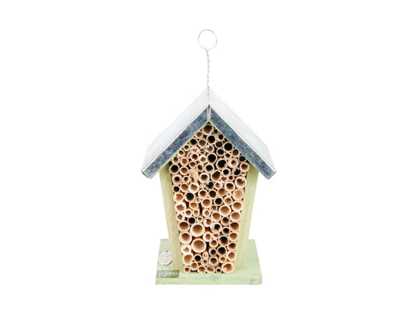 Esschert Design WA02 Wooden Bee House, Light Green