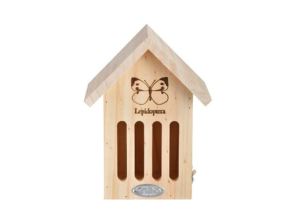"Esschert Design WA39 Wooden Butterfly House, 6.7"" x 4.8"" x 9"""