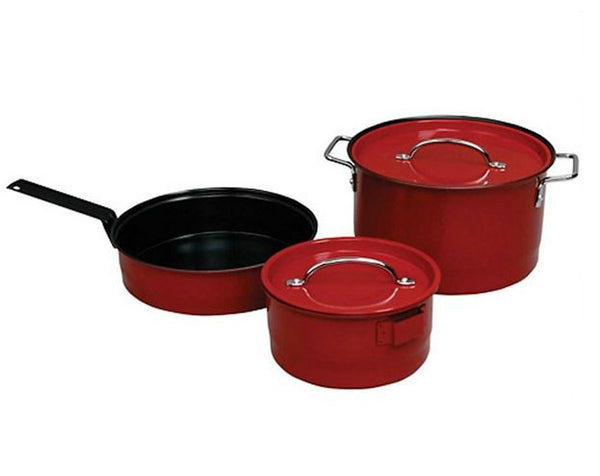Coleman® 2000016422 Red Cookware Set, 6-Piece
