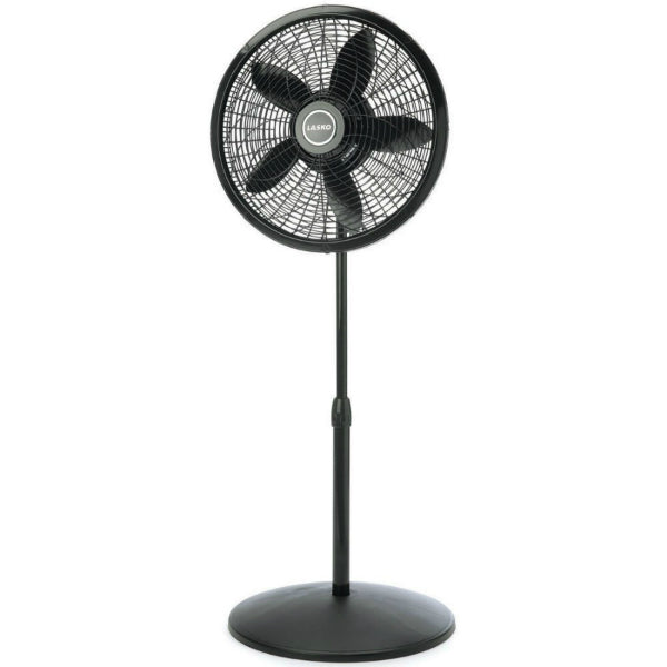 Lasko® 1827 Elegance & Performance Adjustable Pedestal Fan, Black, 18""