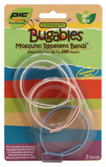 Pic® BUG-BAND3 Citronella Plus Bugables Mosquito Repellant Band, 3-Pack