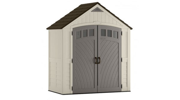 Suncast® BMS7425 Covington Storage Shed, 171 Cu.Ft., 7' x 4', Assorted Colors