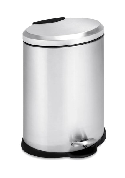 Honey-Can-Do TRS-01447 Oval Stainless Steel Step Trash Can, 12-Liter
