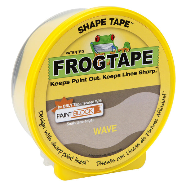 "FrogTape® 282547 Pro Painter's Shape Tape™, 1.81"" x 25 Yd, Wave Pattern"