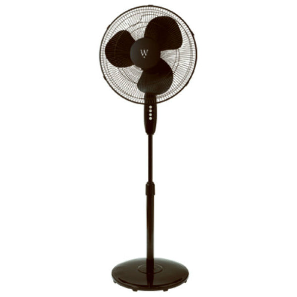 Westpointe FS40-8JCA-BLK Round Base Stand Fan with 3-Speed Settings, Black