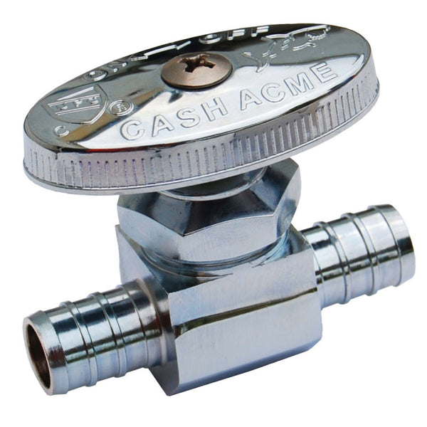 "SharkBite® 23063LF Pex Chrome Plated Straight Stop, 1/2"" x 1/2"" Barb Insert"
