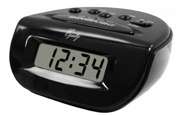 Equity® 31003 LCD Bedside Digital Alarm Clock, Black